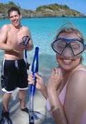 Kevin and Laura snorkeling
