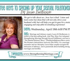 "Spicing Up Your Sexual Relationship — Laura's ""Dating Divas"" Tele-Retreat Seminar"