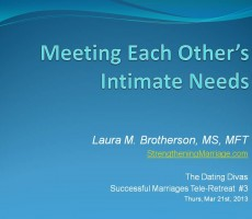 Meeting Each Other's Intimate Needs — Outline & Resources